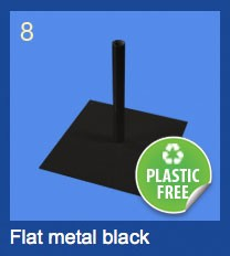 flat metal black base