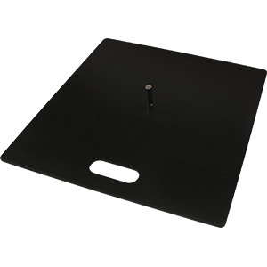 Flat metal base for flag systems