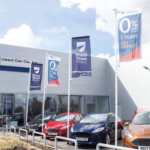 car sales forecourt flags