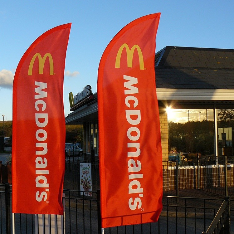 McDonald's feather flags